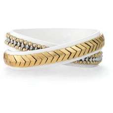 Gilded Path Double Wrap Bracelet in White